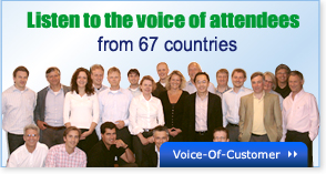 Listen to the voice of attendees from 67 countries